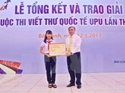 Vietnam marks 30-year participation in UPU letter writing contest