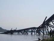 Mine explosion destroys bridge in northern Myanmar