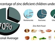 Zinc deficiency rampant in Vietnamese women, children