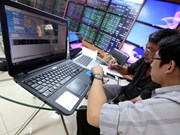 Shares up on few blue chip gains
