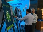 HCM City students' paintings on peace on display