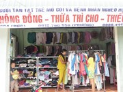 """Khong (Zero) Dong"" shop offers free goods to people in need"