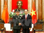 President Tran Dai Quang welcomes Chinese senior officer