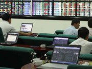 Shares up for second day on stock market