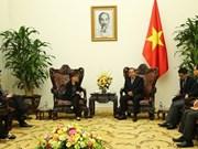 Deputy PM Truong Hoa Binh greets Singaporean Ambassador