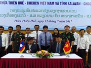 Vietnamese, Lao localities build peaceful border