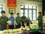 Over 30kg of pink crystal drug seized in Lai Chau