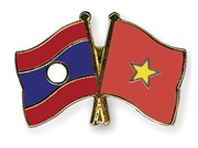 Vietnamese, Lao leaders exchange anniversary congratulations