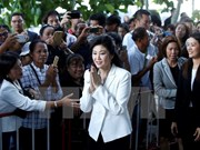 Thai ex-PM attends hearing for rice-pledging scheme