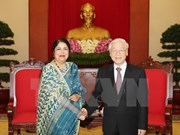 Party chief hosts Speaker of Bangladeshi Parliament