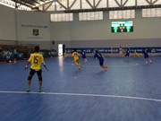 Vietnam women's futsal team train in Japan