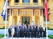 Flag raising ceremony marks ASEAN's 50th anniversary in Hanoi