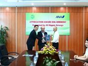 Vietnam Airlines subsidiary receives international award