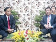 HCM City leader welcomes Lao Party official