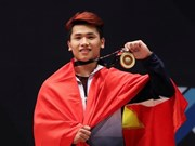 SEA Games 29: weightlifter Vinh wins gold, breaks 2 records