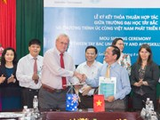 Australia supports manpower training at Tay Bac University