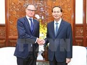 President Tran Dai Quang bids farewell to Austrian Ambassador