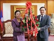 Lao officials congratulate embassy on Vietnam's 72nd National Day