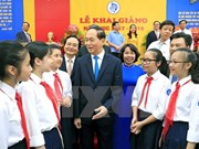 President affirms importance of education at school year's beginning