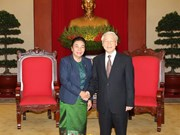 Party chief meets Lao Party official for external relations