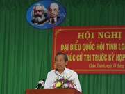 Permanent Deputy PM meets voters in Long An province