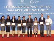 Sponsors of APEC 2017 events announced