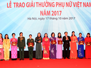 Vietnam Women Award honours 18 units, individuals