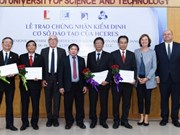 Four first Vietnamese universities receive HCERES certificates