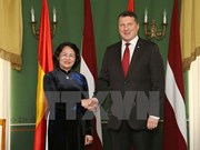 Vietnamese Vice President meets with Latvian President