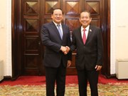 Vietnamese, Lao Deputy PMs hold talks