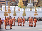 Thailand grieves former king at cremation ceremony
