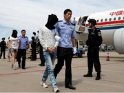 Cambodia deports 61 Chinese telecom fraud suspects home