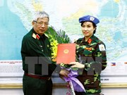Vietnam sends first female officer to UN peacekeeping mission