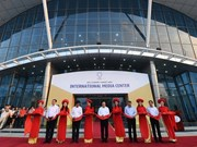 Foreign reporters satisfied with APEC 2017 int'l media centre