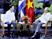 Cuban leaders determined to develop traditional friendship with Vietnam