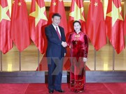 NA Chairwoman meets Chinese Party chief Xi Jinping