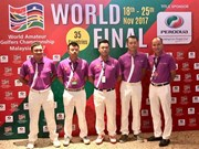 Vietnam champions at int'l golf tournament