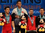 Thach Kim Tuan lifts three gold medals at world championship