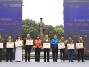 National awards honour contribution of volunteers