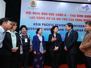 Regional conference highlight female labourers, trade union's role
