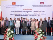 Cambodian Embassy celebrates National Day, ties with Vietnam