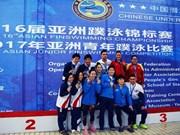Vietnam ranks third in continental Finswimming tourney