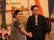 Indian Foreign Minister active in Indonesia