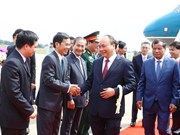 PM Phuc arrives in Cambodia for Mekong-Lancang summit