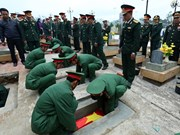 Dien Bien holds services for soldier remains found in Laos