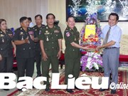 Cambodian delegation extends New Year greetings to Bac Lieu