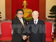 Party, State leaders receive Indonesian upper house speaker