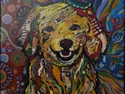 Year of Dog paintings on display