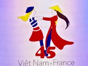 Logo designed to celebrate Vietnam-France diplomatic ties