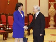Party chief greets new Cuban Ambassador